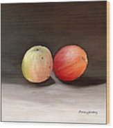 Apples Still Life Wood Print by Carola Ann-Margret Forsberg