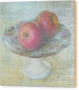 Apples Still Life Print Wood Print