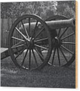 Appomattox Cannon Wood Print by Teresa Mucha
