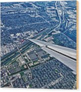 Approach Into Chicago Wood Print