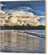 Approaching Storm Clouds Wood Print