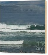 Approaching Storm In Maui Wood Print