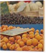 Apricot Season Wood Print by Georgia Fowler