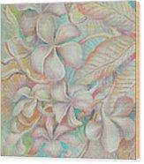 Apsara Flower  Wood Print
