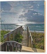 Aqua Seas Wood Print