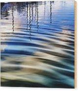 Aquatic Reflections Wood Print