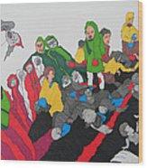 Arab Despair  Wood Print