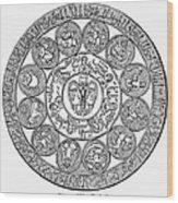 Arabic Zodiac Wood Print