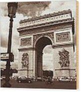 Arc De Triomphe Wood Print by Kathy Yates