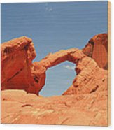 Arch Rock In Valley Of Fire Wood Print
