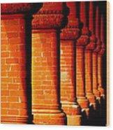 Archaic Columns Wood Print