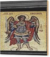Archangel Michael Mosaic Wood Print