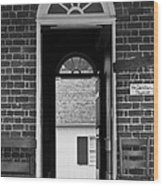 Arched Doors Appomattox Virginia Wood Print