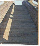 Arched Pedestrian Bridge At Martinez Regional Shoreline Park In Martinez California . 7d10525 Wood Print