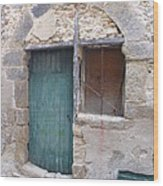 Arched Stone Work Over Door Wood Print