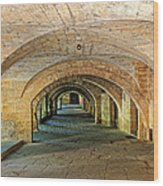 Arched Walkway In Provence Wood Print