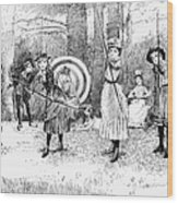 Archery, 1886 Wood Print