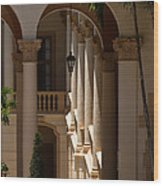 Arches And Columns At The Biltmore Hotel Wood Print