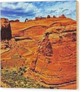 Arches Canyon Wood Print