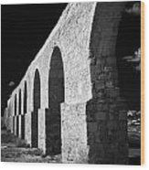 Arches Of The Kamares Aqueduct Larnaca Republic Of Cyprus Europe Wood Print