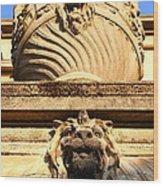 Architectural Detail . Large Urn With Lion Gargoyle  . Hearst Gym . Uc Berkeley . 7d10191 Wood Print