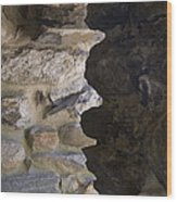 Architectural Detail Of Stone Work Wood Print