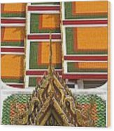 Architectural Detail Of Wat Pho Temple Wood Print