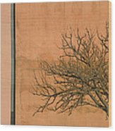 Architecture With Winter Tree Wood Print by Lenore Senior
