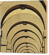 Archways In Florence Wood Print