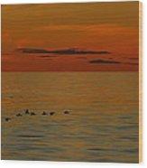 Arctic Dusk Wood Print