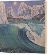 Arctic Ocean Glaciers Wood Print