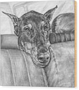 Are We There Yet - Doberman Pinscher Dog Print Wood Print