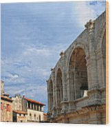 Arena In Arle Provence France Wood Print