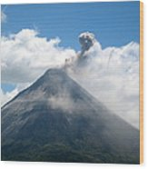 Arenal Eruption Wood Print