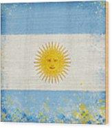 Argentina Flag Wood Print by Setsiri Silapasuwanchai