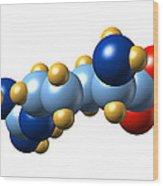 Arginine, Molecular Model Wood Print