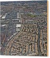 Arial View Of Las Vegas Wood Print