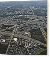 Ariel View Of Orlando Florida Wood Print