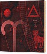 Aries Wood Print by JP Rhea