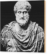 Aristotle, Ancient Greek Philosopher Wood Print