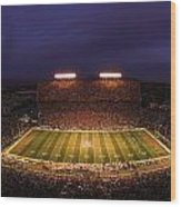 Arizona Arizona Stadium Under The Lights Wood Print