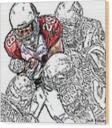 Arizona Cardinals Chester Taylor Seattle Seahawks David Hawthorne Clinton Mcdonald And Red Bryant Wood Print