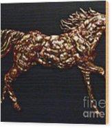 Arizona Fire Horse Wood Print