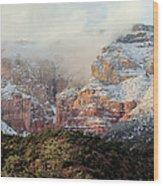 Arizona Snowstorm Wood Print