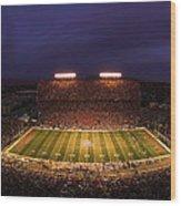 Arizona Stadium Under The Lights Wood Print by J and L Photography
