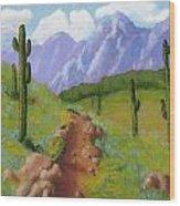 Arizona Trails Wood Print