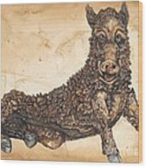 Arkansas Razorback Mascot Wood Print by Annie Laurie
