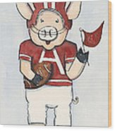 Arkansas Razorbacks - Football Piggie Wood Print