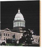 Arkansas State Capital Wood Print by Joe Finney