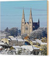 Armagh Cathedral In The Snow Wood Print